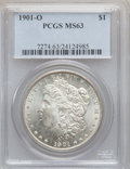 "Morgan Dollars, (3)1901-O $1 MS63 PCGS. The current Coin Dealer Newsletter(Greysheet) wholesale ""bid"" price ... (Total: 3 coins)"
