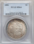 Morgan Dollars: , 1896 $1 MS64 PCGS. PCGS Population (12440/4296). NGC Census:(15372/4916). Mintage: 9,976,762. Numismedia Wsl. Price for pr...