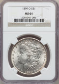 "Morgan Dollars, (2)1899-O $1 MS64 NGC. The current Coin Dealer Newsletter(Greysheet) wholesale ""bid"" price i... (Total: 2 coins)"