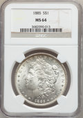 Morgan Dollars: , 1885 $1 MS64 NGC. NGC Census: (29672/11791). PCGS Population(23753/9305). Mintage: 17,787,768. Numismedia Wsl. Price for p...