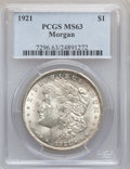 Morgan Dollars, 1921 $1 MS63 PCGS, 1921 $1 MS63 NGC and 1921 $1 MS63 PCGS. Thecurrent Coin Dealer ... (Total: 3 coins)