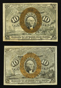 Fractional Currency:Second Issue, Fr. 1245 10¢ Second Issue About New. Fr. 1246 10¢ Second Issue About New.. ... (Total: 2 notes)