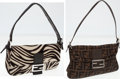 Luxury Accessories:Bags, Set of Two; Fendi Zebra Ponyhair Baguette Shoulder Bag and ClassicMonogram Zucca Canvas Shoulder Bag. ... (Total: 2 Items)