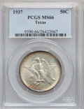 Commemorative Silver: , 1937 50C Texas MS66 PCGS. PCGS Population (359/91). NGC Census:(356/74). Mintage: 6,571. Numismedia Wsl. Price for problem...