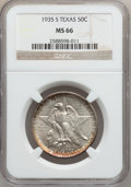 Commemorative Silver: , 1935-S 50C Texas MS66 NGC. NGC Census: (438/84). PCGS Population(353/101). Mintage: 10,000. Numismedia Wsl. Price for prob...