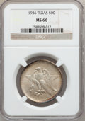 Commemorative Silver: , 1936 50C Texas MS66 NGC. NGC Census: (505/130). PCGS Population(614/131). Mintage: 8,911. Numismedia Wsl. Price for proble...