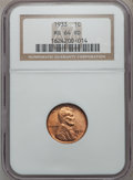 Lincoln Cents: , 1933 1C MS64 Red NGC. NGC Census: (128/778). PCGS Population(224/792). Mintage: 14,360,000. Numismedia Wsl. Price for prob...