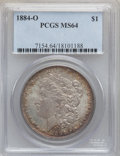 Morgan Dollars: , 1884-O $1 MS64 PCGS. PCGS Population (62379/14168). NGC Census:(77167/19439). Mintage: 9,730,000. Numismedia Wsl. Price fo...