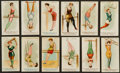 "Non-Sport Cards:Sets, 1887 N77 Duke ""Gymnastic Exercises"" Blue & Brown CaptionsCollection (24). ..."