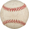 Baseball Collectibles:Balls, 1964 Pittsburgh Pirates Team Signed Baseball With Clemente. ...