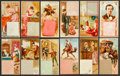 "Non-Sport Cards:Sets, 1889 N85 Duke's ""Postage Stamps"" Near Set (49/50). ..."
