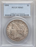 "Morgan Dollars, (2)1890 $1 MS63 PCGS. The current Coin Dealer Newsletter(Greysheet) wholesale ""bid"" price is... (Total: 2 coins)"