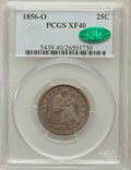 Seated Quarters: , 1856-O 25C XF40 PCGS. CAC. PCGS Population (13/41). NGC Census:(3/49). Mintage: 968,000. Numismedia Wsl. Price for problem...