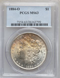"""Morgan Dollars, (3)1884-O $1 MS63 PCGS. The current Coin Dealer Newsletter(Greysheet) wholesale """"bid"""" price ... (Total: 3 coins)"""