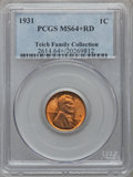 Lincoln Cents: , 1931 1C MS64+ Red PCGS. Ex: Teich Family Collection. PCGSPopulation (466/871). NGC Census: (206/506). Mintage:19,396,000....