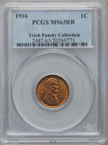 Lincoln Cents: , 1916 1C MS63 Red and Brown PCGS. Ex: Teich Family Collection. PCGSPopulation (68/406). NGC Census: (84/504). Mintage: 131,...