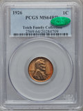 Lincoln Cents: , 1926 1C MS64 Red PCGS. CAC. Ex: Teich Family Collection. PCGSPopulation (511/1421). NGC Census: (274/1192). Mintage: 157,0...