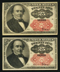 Fractional Currency:Fifth Issue, Fr. 1309 25¢ Fifth Issue Choice New Two Examples.. ... (Total: 2 notes)
