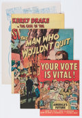 "Golden Age (1938-1955):Miscellaneous, Harvey ""Votes Are Vital"" Giveaway Comics File Copies Group (Harvey, 1950s) Condition: Average VF/NM.... (Total: 9 Comic Books)"