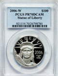 Modern Bullion Coins, 2006-W $100 One-Ounce Platinum Eagle PR70 Deep Cameo PCGS. PCGSPopulation (174). NGC Census: (584). Numismedia Wsl. Price...
