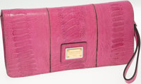 Dolce and Gabbana Pink Leather Miss Zoe Wristlet Bag