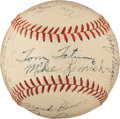 Baseball Collectibles:Balls, 1950 Fort Worth Cats Team Signed Baseball With Rare Don HoakAutograph. ...