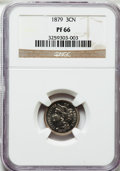 Proof Three Cent Nickels: , 1879 3CN PR66 NGC. NGC Census: (179/62). PCGS Population (179/44).Mintage: 3,200. Numismedia Wsl. Price for problem free N...