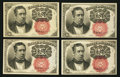 Fractional Currency:Fifth Issue, Fr. 1266 10¢ Fifth Issue Four Examples About New or Better.. ...(Total: 4 notes)