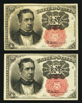 Fractional Currency:Fifth Issue, Fr. 1265 10¢ Fifth Issue Extremely Fine-About New.. ... (Total: 2notes)