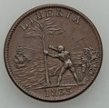 Liberia, Liberia: Republic Token Cent 1833,...
