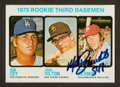 Autographs:Sports Cards, Signed 1973 Topps Mike Schmidt Rookie #615. ...