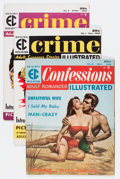 Silver Age (1956-1969):Romance, Confessions Illustrated/Crime Illustrated Group (EC, 1955-56)....(Total: 3 Comic Books)