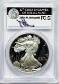 Modern Bullion Coins, 1988-S $1 One Ounce Silver Eagle Insert autographed By John M.Mercanti,12th Chief Engraver of the U.S. Mint PR70 Deep Ca...