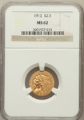 Indian Quarter Eagles: , 1912 $2 1/2 MS62 NGC. NGC Census: (2454/1760). PCGS Population(1054/1290). Mintage: 616,000. Numismedia Wsl. Price for pro...