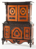 Furniture : Continental, A PORTUGUESE MAHOGANY AND EBONIZED WOOD CABINET . 19th century.76-3/4 x 54-3/4 x 21-1/4 inches (194.9 x 139.1 x 54.0 cm). ...(Total: 2 Items)