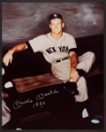 "Baseball Collectibles:Photos, Mickey Mantle ""1956"" Signed Oversized Photograph...."