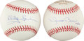 Autographs:Baseballs, Whitey Ford and Mariano Rivera Single Signed Baseballs Lot of 2....