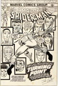 "Original Comic Art:Covers, John Romita Sr. Amazing Spider-Man #121 ""The Night GwenStacy Died"" Cover Original Art (Marvel, 1973)...."