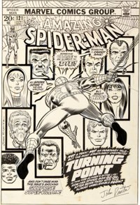 "John Romita Sr. Amazing Spider-Man #121 ""The Night Gwen Stacy Died"" Cover Original Art (Marvel, 1973)"