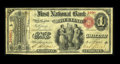 National Bank Notes:West Virginia, Wheeling, WV - $1 Original Fr. 380 The First NB Ch. # 360. ...