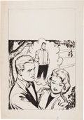 Original Comic Art:Covers, Harvey Romance Cover Original Art (Harvey, c. 1950s)....