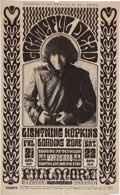 Music Memorabilia:Posters, Grateful Dead/Lighting Hopkins Fillmore Concert Poster BG-32 (BillGraham, 1966)....