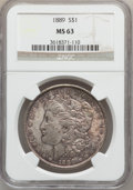 Morgan Dollars: , 1889 $1 MS63 NGC. NGC Census: (14575/16098). PCGS Population(13309/11162). Mintage: 21,726,812. Numismedia Wsl. Price for ...