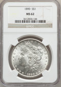 Morgan Dollars: , 1890 $1 MS62 NGC. NGC Census: (2092/10869). PCGS Population(2881/9775). Mintage: 16,802,590. Numismedia Wsl. Price for pro...