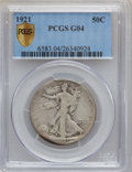 Walking Liberty Half Dollars: , 1921 50C Good 4 PCGS Secure. PCGS Population (165/1168). NGCCensus: (108/694). Mintage: 246,000. Numismedia Wsl. Price for...