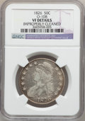 Bust Half Dollars: , 1826 50C -- Improperly Cleaned -- NGC. VF. O-108. NGC Census:(14/1432). PCGS Population (16/1734). Mintage: 4,000,000. Nu...