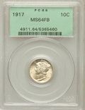 Mercury Dimes: , 1917 10C MS64 Full Bands PCGS. PCGS Population (324/289). NGCCensus: (204/144). Mintage: 55,230,000. Numismedia Wsl. Price...