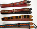 Musical Instruments:Miscellaneous, 1970s Vintage Guitar Strap Lot of 4.. ...
