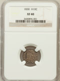 Bust Half Dimes: , 1830 H10C XF40 NGC. NGC Census: (6/518). PCGS Population (18/484).Mintage: 1,200,000. Numismedia Wsl. Price for problem fr...