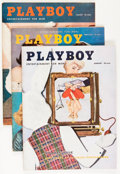 Magazines:Miscellaneous, Playboy 1956 Group (HMH Publishing, 1956) Condition: AverageFN+.... (Total: 12 Comic Books)